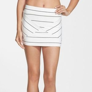 New! RIP Curl Borderline Stripe Mini Skirt